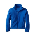 Ragazzino corpo Fit Stand collare Full zip giacca in pile